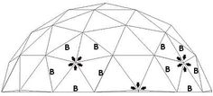 7m diameter 3V basic dome plans
