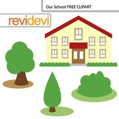 Free school building clip art. Our school clipart set features 1 school building, and trees. Free clip art resource for TpT Teacher Author. DON'T FORGET TO RATE! Your rating is highly appreciated.Similar clip art setLink-Clip Art Building - School building, houses, apartments digital clipartYou will receive:- Each clipart saved separately in PNG format, 300 dpi with transparent background.- Each clipart saved separately in JPG format, 300 dpi with white background.Please give credit to…