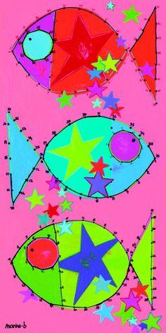 Les poissons étoiles - 60 x 30 cm et 80 x 40 cm