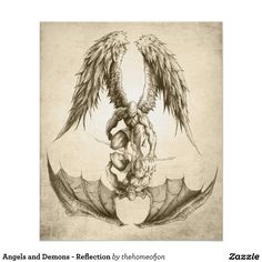 Angels and Demons - Reflection Poster