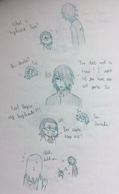 Sarada's boyfriends part 2 Sasuke Sakura Sarada, Naruto And Hinata, Naruto Shippuden Anime, Anime Naruto, Anime Manga, Naruto Comic, Naruto Funny, Kakashi, Naruto New Generation