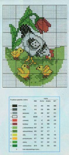 DIY Handmade: Jajka pisanki haft krzyżykowy -11 schematów i wzorów