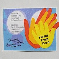 Handprint Parent's Day Card Craft
