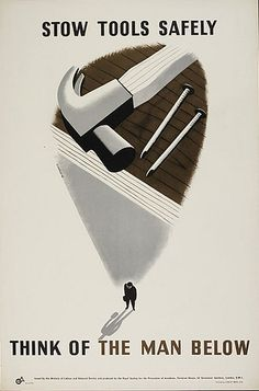 Stow Tools Safely... by Tom Eckersley (1942)