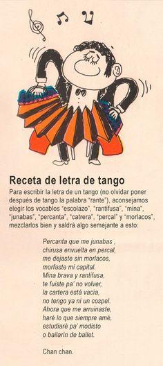 11 de diciembre es el Día Nacional del Tango. Dibujo y textos de Landrú.