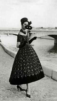 Vintage Evening Dress by Yves Saint Laurent pour Dior 1958
