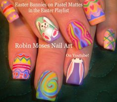 Easter Nail art Design Tutorials for 2015 with White Bunny and other Trendy Easter nail Ideas!