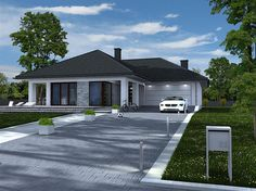 Lovely Two Storey Home Design 1 Contemporary House Plans, Modern House Plans, Small House Plans, Modern House Design, Front House Landscaping, White Exterior Houses, Modern Bungalow House, Small Modern Home, Storey Homes