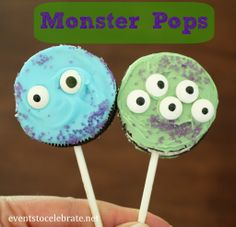 Monsters University Party - Oreo Monster Pops - events to CELEBRATE! #shop