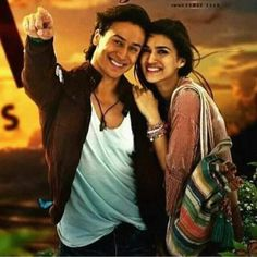 Tiger shroff and kriti sanon Bollywood Couples, Indian Bollywood, Bollywood Stars, Bollywood Actress, Tiger Love, Fight Song, Get Reading, White Smile, Tiger Shroff