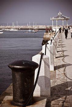 Dun Laoghaire Pier, inspiration for Charlie Corocan's set design
