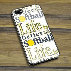 Personalized Softball Life is Better with Softball iPhone/Galaxy Case