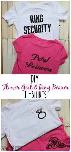 e5e01903c54 DIY Flower Girl and Ring Bearer T-Shirts. Wedding Party Gift ...