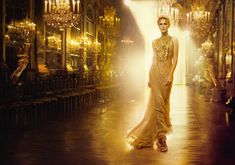 Dior - Charlize Theron - Versailles - Paris - Gold