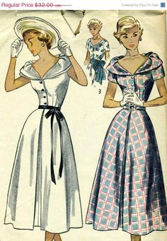 Summer Savings 1940s Simplicity 2888 Misses Dress by RomasMaison, $28.80