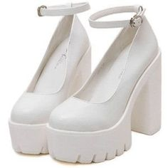 Dr Shoes, Me Too Shoes, Shoes Heels, Heeled Sandals, Pumps, Pretty Shoes, Cute Shoes, White Platform Shoes, Sandals Platform