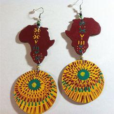 Festive Africa Earrings by BOABW on Etsy