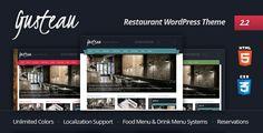 Gusteau: Nice Restaurant #Wordpress Theme $35