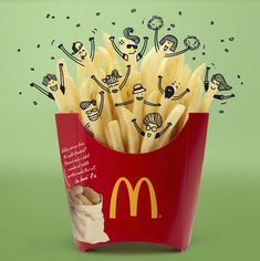 Creative Doodles completed with Mcdonald's Food – Fubiz Media