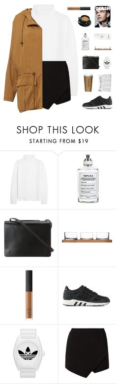 """Greek Tragedy"" by modernyouth ❤ liked on Polyvore featuring Vanessa Bruno, Maison Margiela, BCBGMAXAZRIA, Sagaform, NARS Cosmetics, Chanel, adidas and adidas Originals"