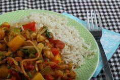 Een lekkere Oosterse maaltijd, in een handomdraai. De kikkererwten zitten boordevol vezels en eiwitten, dus het vult goed!