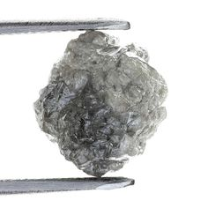 2.52 ct Carat Fancy Silver Gray Natural  Rough Diamond Gem