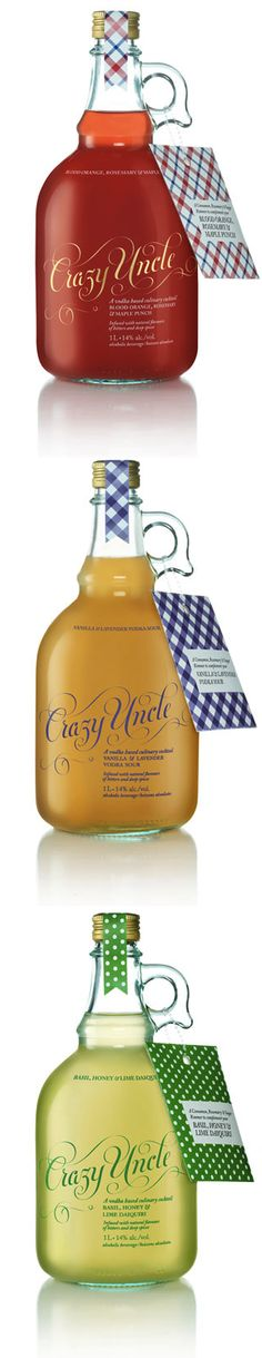 Crazy Uncle-Designed by TAXI |  Canada. A simple jug with great text  and tags has universal appeal.