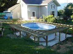 Image result for aménagement autour d'une piscine hors sol