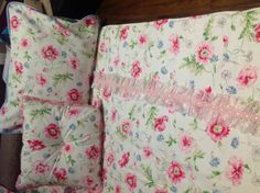 Stunning handmade Shabby chic girls bedding by Iminstitches2, $395.00