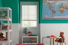 Perfect for kids' rooms! Heartland Woods® Blinds with Accu-Rise® | Lafayette Interior Fashions