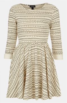 Beautiful! If only it was a little longer.. Topshop Textured Skater Dress | Nordstrom