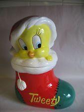 Warner Brothers Tweety Bird Puzzle | Tweety Bird Santa Hat Christmas Cookie Jar Warner Bros 1993