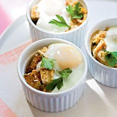 Baked Eggs en Cocotte with Onions | CookingLight.com