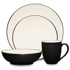 Google Express - Noritake Noritake Colorwave 4-Piece Coupe Place Setting in Graphite, GRAPHITE - 4 PIECE: Bed Bath & Beyond