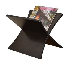 Contemporary Magazine Rack from Woodwaves