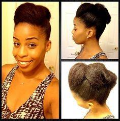 updo curls on natural hair   NATURAL HAIR UPDO   Hair pinspiration