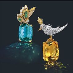 Diamond and gemstone brooches, Tiffany and Co