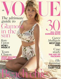 Kate Upton by Mario Testino for Vogue UK June 2014 - biggest boobed girl on a Vogue cover for many a day. Vogue Magazine Covers, Fashion Magazine Cover, Fashion Cover, Vogue Covers, Look Fashion, Fashion Models, High Fashion, Magazine Photos, Glamour Magazine