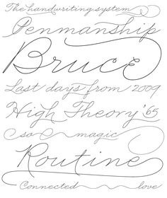 Business Penmanship. An ode to the business handwriting from the era penmanship was a highly-valued part of business education and practice.