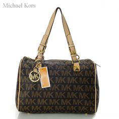Brown rectangle Michael Kors bag with letters, cream shoulders http://www.michaelkorsonlinewholesale.com/Michael-Kors-Logo-Large-Brown-Shoulder-Bags-p-1598.html