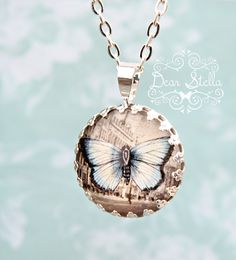 This Butterfly in Paris necklace is now sold out but you can find similar ones here: http://dearstellajewellery.storenvy.com/collections/202878-necklaces
