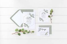 Minimalist Wedding Invitation Suite, the Imogene Suite, Nature Inspired Invite, RSVP, Save the Date, Printable Invite, Floral Rustic Wedding by monetandmona on Etsy https://www.etsy.com/listing/538314151/minimalist-wedding-invitation-suite-the