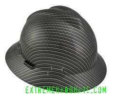 this is my first choice work wear..... =) Carbon Fiber Silver Rope 2 Pattern MSA V-Gard Hard Hat