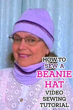 Looking for easy beginner sewing projects? In this video sewing tutorial I will show you how to sew a lined beanie. You would get it done in 30 minutes. DIY lined beanie is a great project for beginners. And you can even make it without a pattern from knit fabric of your choice. The best way to sew the DIY beanie hat is from knit fabric, fleece, velvet, lace. You can even use a boring old sweater or soft knitted dress. Sewing For Beginners Diy, Sewing For Dummies, Sewing Basics, Easy Sewing Patterns, Easy Sewing Projects, Sewing Tutorials, Sewing Leather, Sewing Accessories, Handmade Clothes