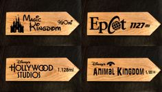 "Remember how far ""Home"" is with These Custom Disney Distance Signs"