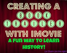 book trailers, books, creat, imovi, middl school, homeschool resourc, biographi, homeschool technology, homeschool middl