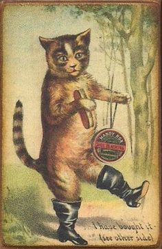 Cats in Illustration: Vintage trading card