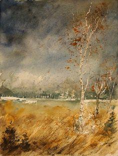 "Saatchi Online Artist: Pol Ledent; Watercolor 2013 Painting ""watercolor 190307"""