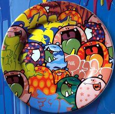 Prato decorado - Spoleto,motivo infantil.....