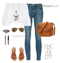 """""""Brunch Style"""" by liz-chirinos-godoy on Polyvore featuring Frame Denim, Carolina Herrera, H&M, Ray-Ban and Bling Jewelry"""